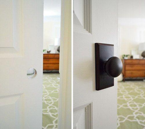 Updating Interior Doors By Installing New Doorknobs