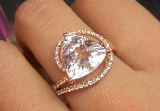 37 Colorful Morganite Engagement Rings with Meanings (2020) (With ...
