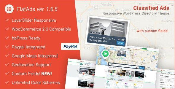 FlatAds Tema WordPress Anuncios Clasificados | Anunciable.com ...