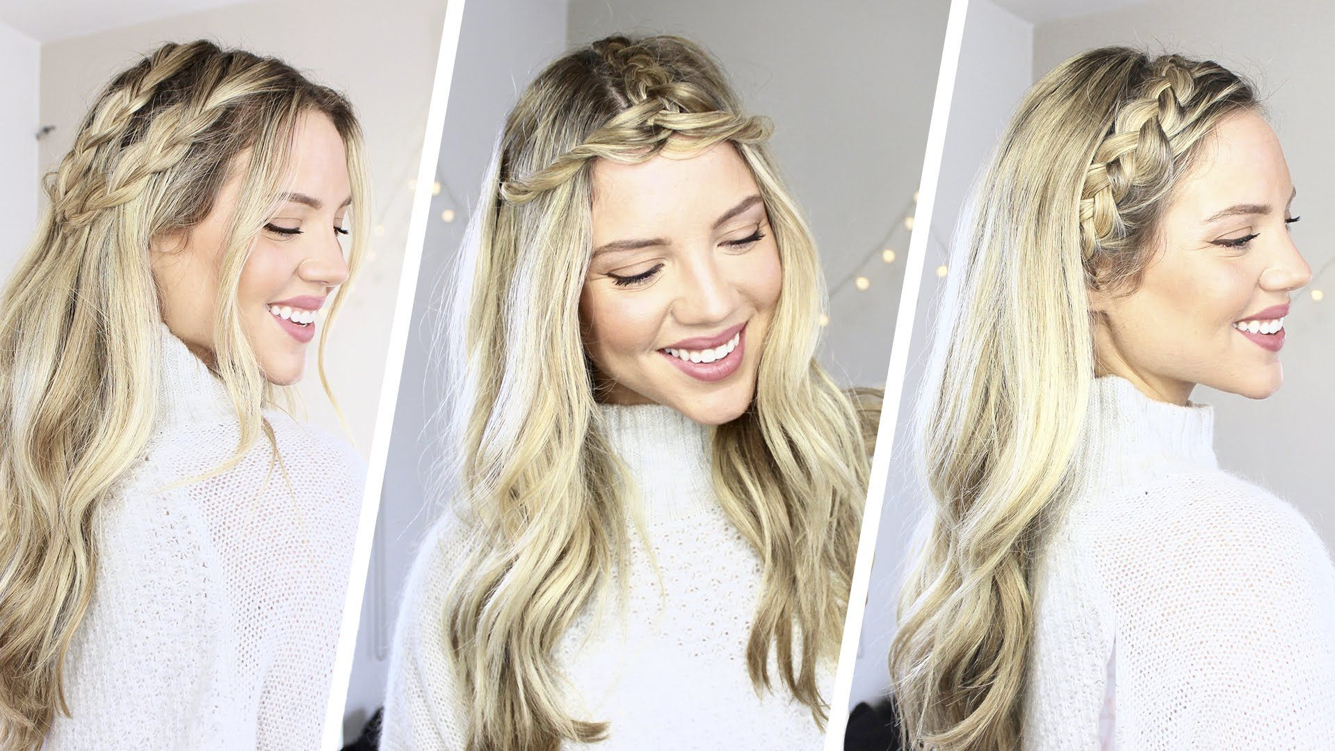 How to 3 Easy Braided Hairstyles Coachella Luxy Hair