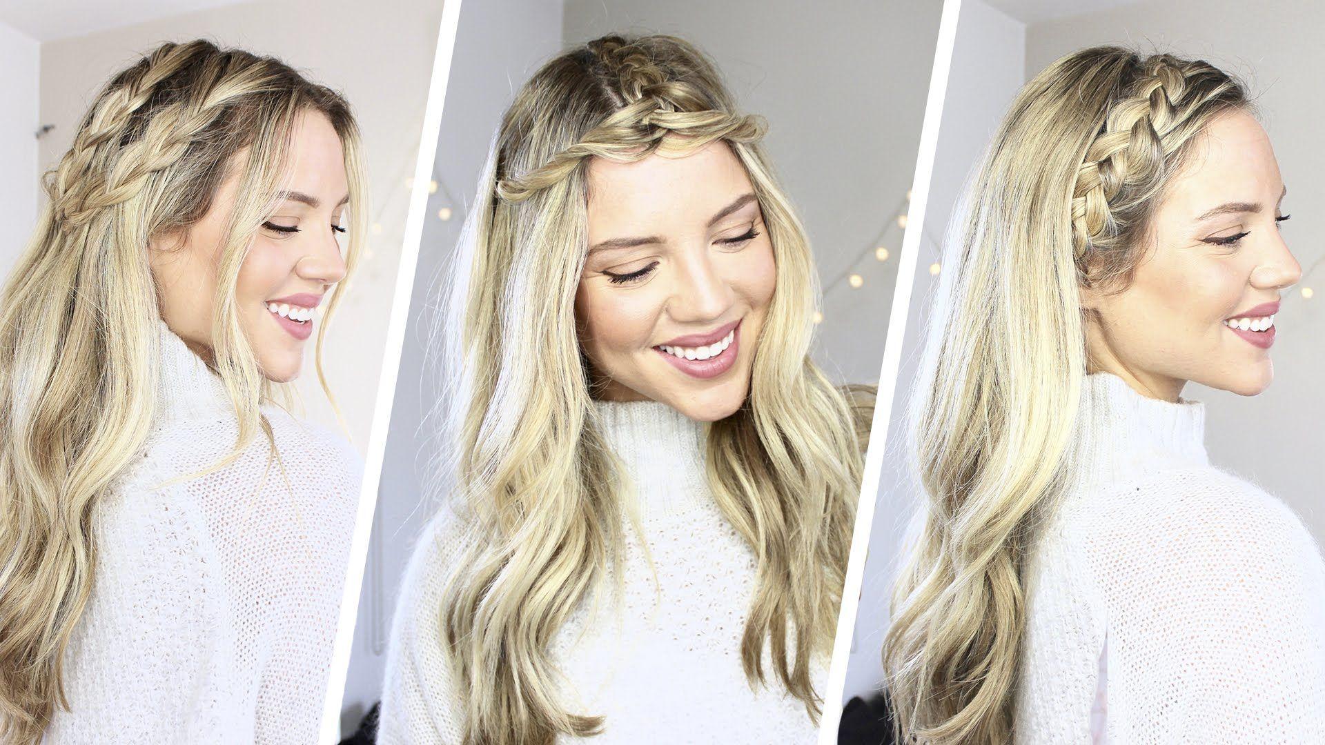 How to 3 Easy Braided Hairstyles Coachella Luxy Hair