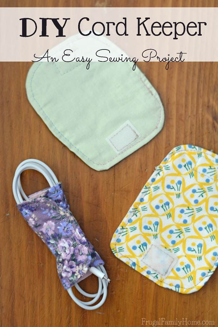 Easy Beginner Sewing Project, Cord Keepers | Beginner sewing ...