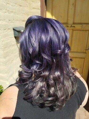 Metallic silver purple hair By Kirstin at Dolly Quinn salonspa in Tucson Az!