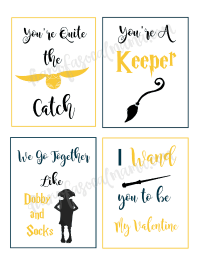 photograph regarding Free Printable Harry Potter Birthday Cards named Harry Potter Valentines: Totally free Printable Playing cards Valentines