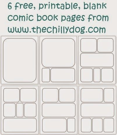 Printable Blank Comic Book Pages Library- SRP 2015 Blank comic