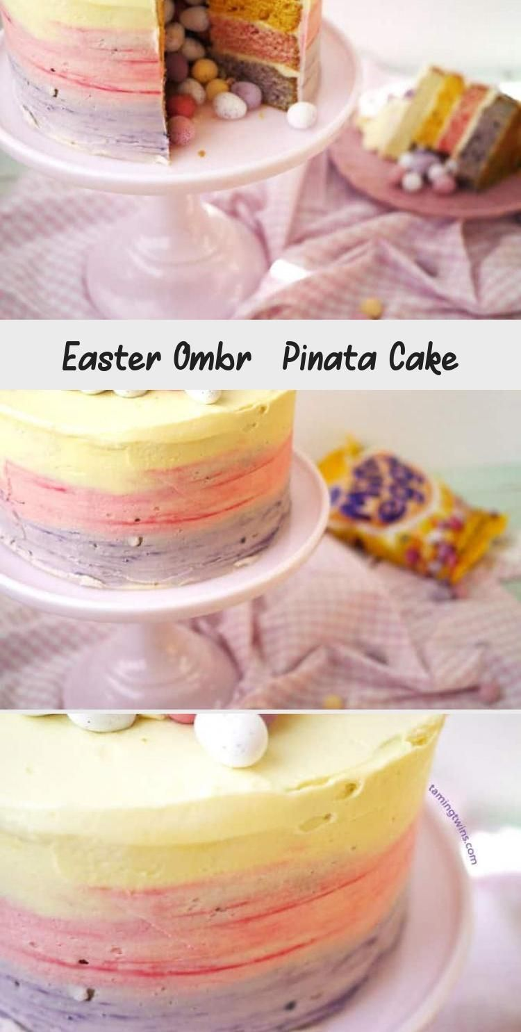 Photo of Mini Egg Ombre Pinata Layer Cake #PinataKuchenRezept #PinataKuchenRegenbogen #Pi…