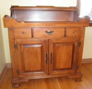 Tell City Young Republic Hard Rock Maple Dry Sink Retro