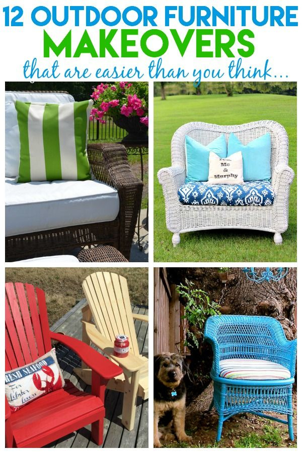 12 Outdoor Furniture Makeovers   Easier Than You Think!