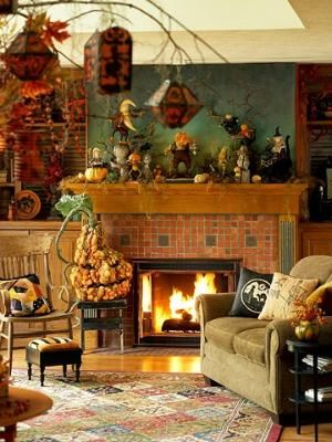 Fabulous room decorated fabulously for Halloween! All Hallow\u0027s Eve