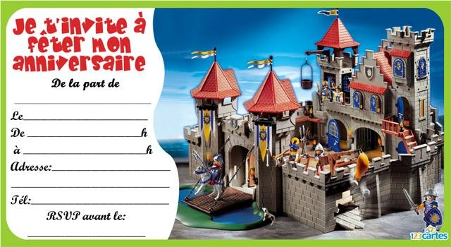 nothing found for invitations anniversaire playmobil chevalier