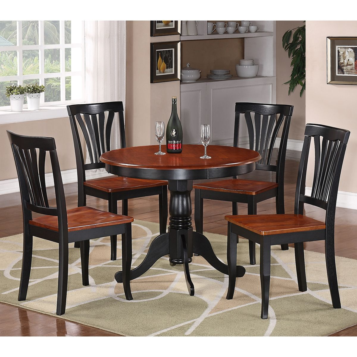 shop east west furniture anav antique round table dining