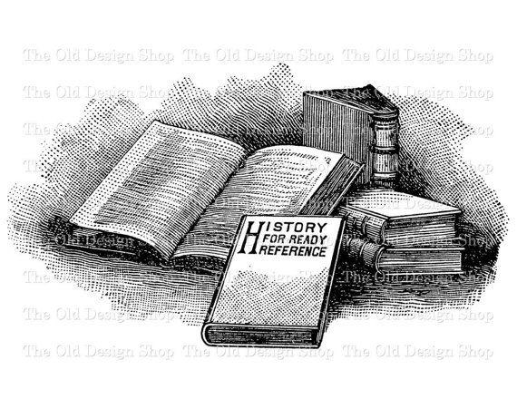 Vintage Book Clip Art Stack Of Books Illustration Digital Etsy Book Clip Art Clip Art Vintage Book