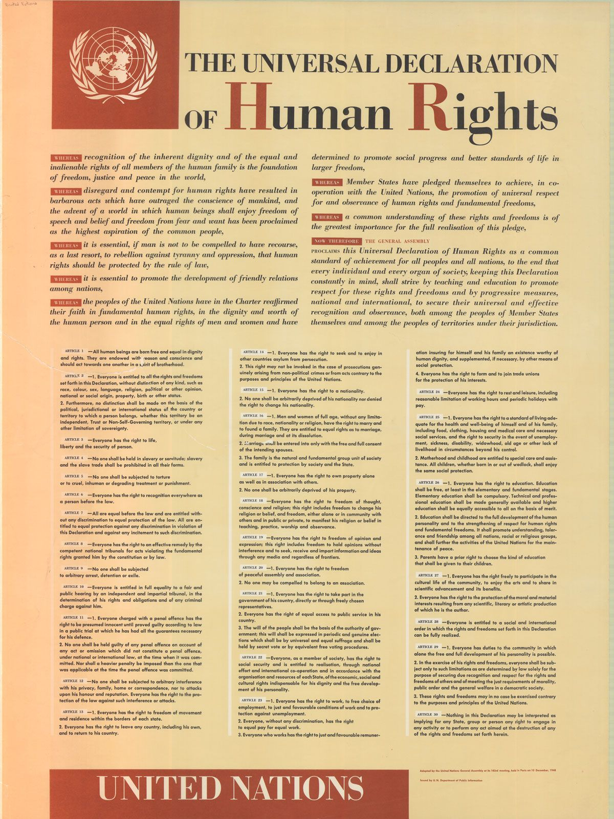 United We Will Win Poster Information Declaration Of Human Rights Human Rights Human Rights Day