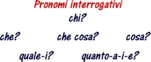 Pronomi interrogativi