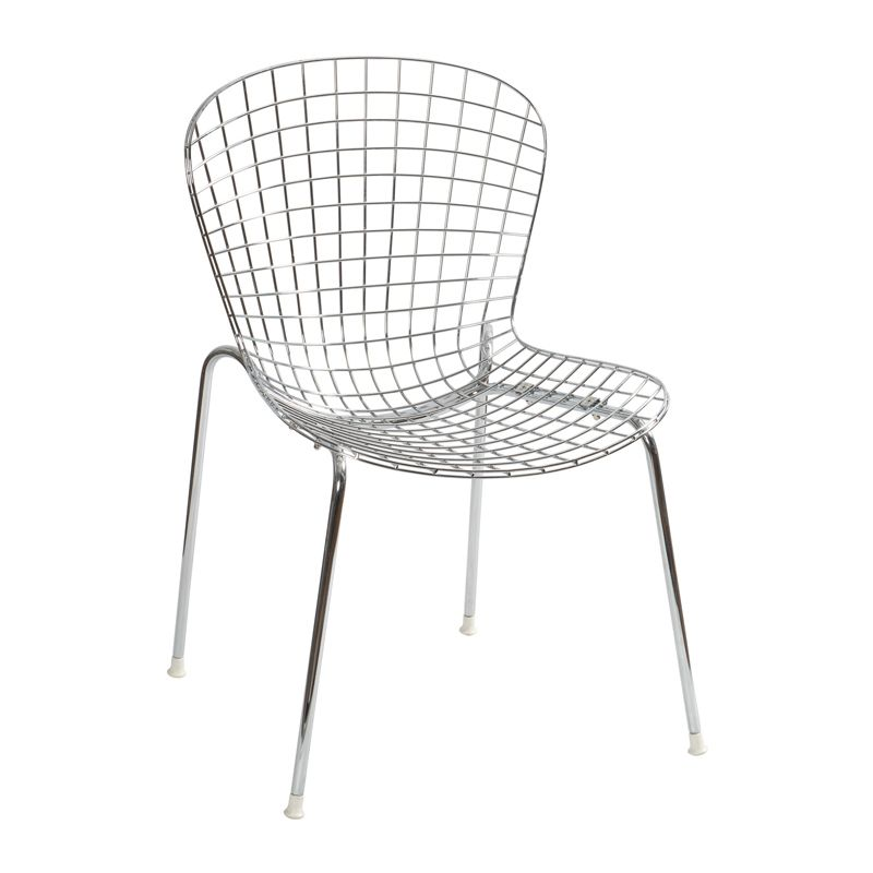 Great IKEA Sale Single European Fashion Minimalist Dining Chairs Without Armrests  Modern Metal Wire Lounge Chair