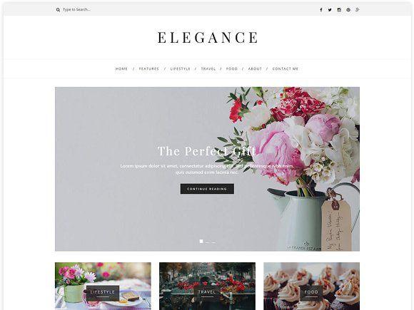 Elegance - WordPress Blog Theme Wordpress blog themes, Wordpress