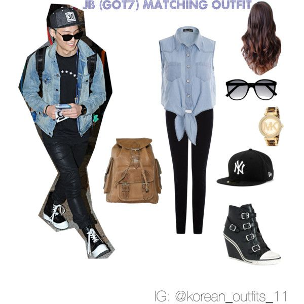 182b0b6578168 JB (GOT7) matching outfit by ploylychan on Polyvore featuring polyvore  fashion style Warehouse Ash Michael Kors