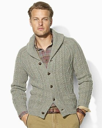 5f729d725bae Polo Ralph Lauren Long-Sleeved Wool-Cashmere Cable-Knit Shawl Cardigan -  Men s - Bloomingdale s