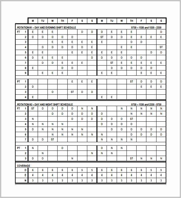 8 Hour Shift Schedule Template Unique 3 Shift Work Schedule