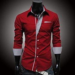 c312bc996d09a rayas camisa de manga larga de los hombres