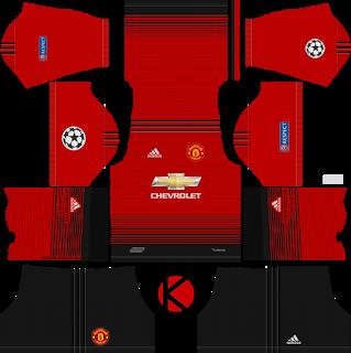 Manchester United 2018 19 Ucl Kit Dream League Soccer Kits Soccer Kits Manchester United Manchester United Logo
