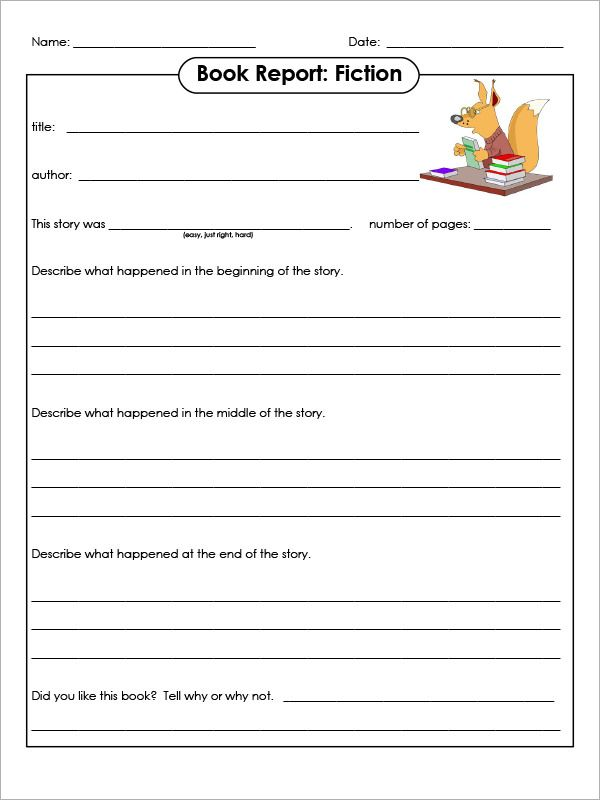 sample book report template free documents download pdf word graders