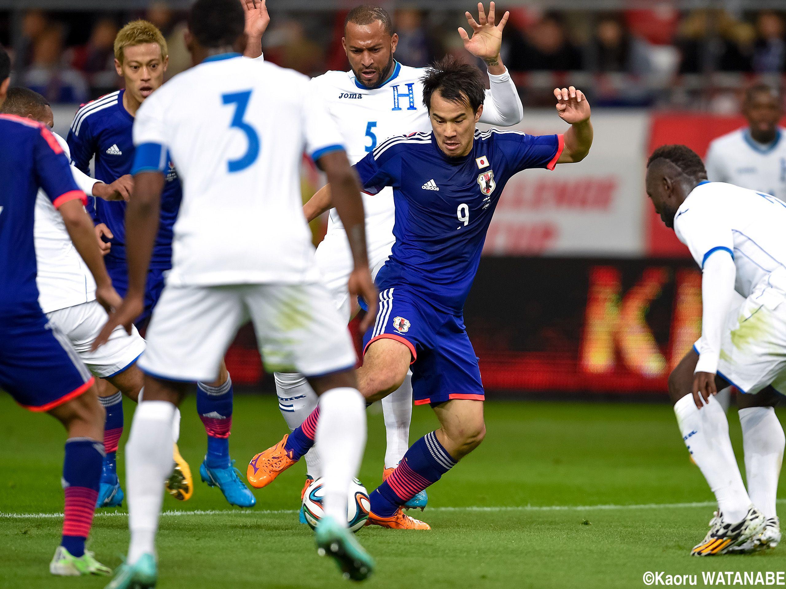 Shinji Okazaki - FW - #9 KIRIN CHALLENGE CUP Japan vs. Honduras #Soccer