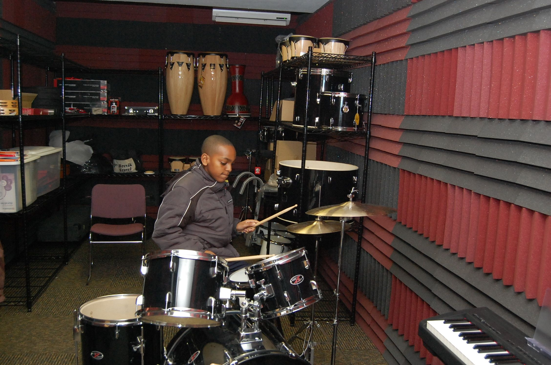 drum music room sound proof walls a must no place