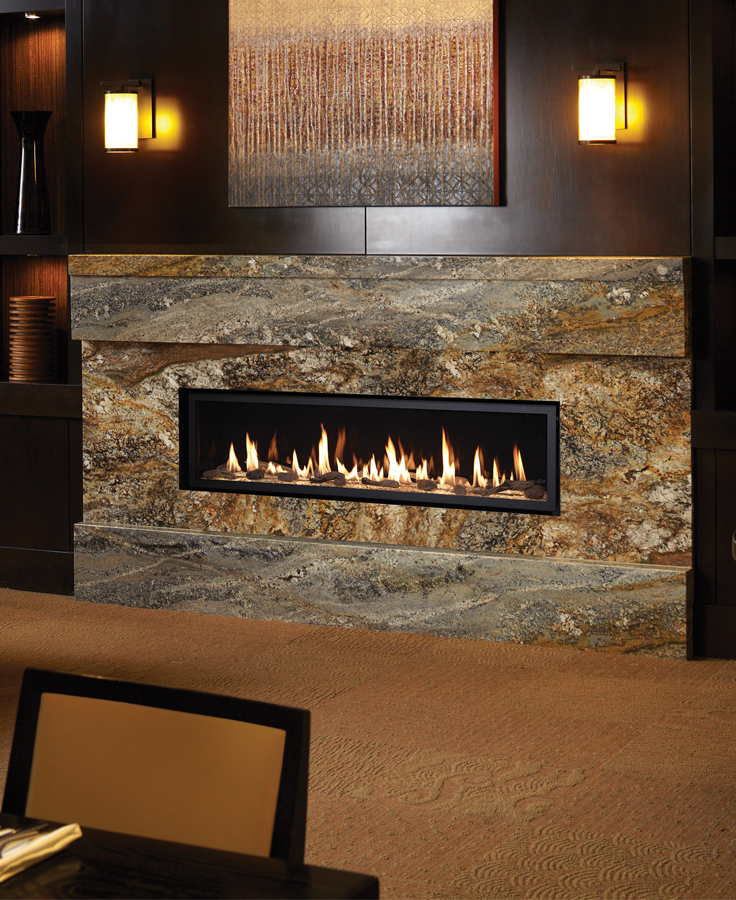6015 Linear Gas Fireplacethe Big Brother To The 4415 Amp 3615 This Gorgeous Unit Is 56000 BTU