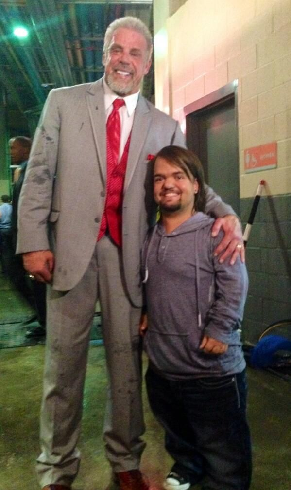 Hornswoggle Dylan Postle Meeting His Idol Ultimate Warrior At