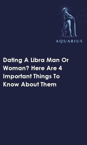 Libra man dating libra woman