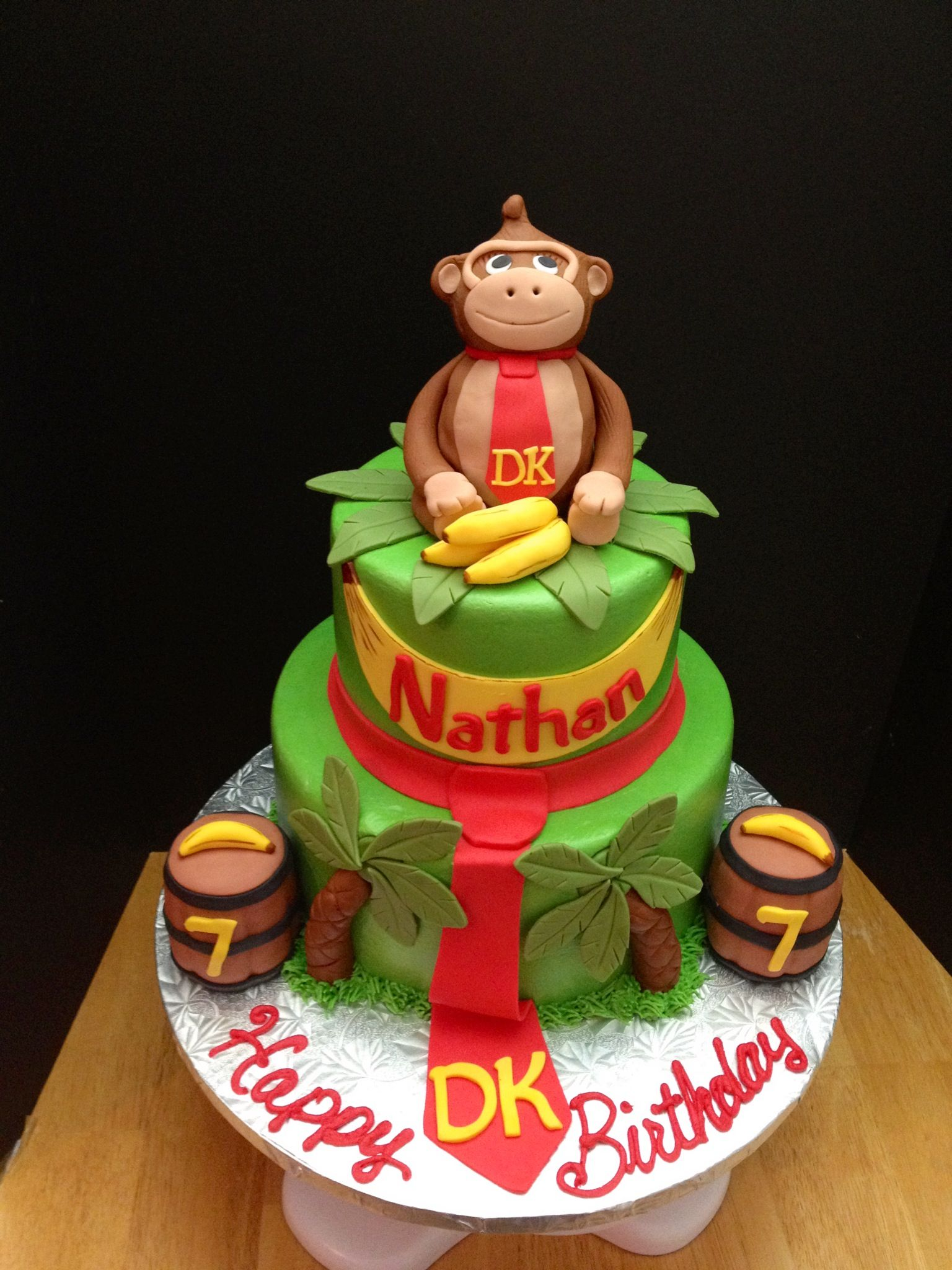 Cool Donkey Kong Cake Made By Teresa Lynn Cakes Llc With Images Funny Birthday Cards Online Amentibdeldamsfinfo
