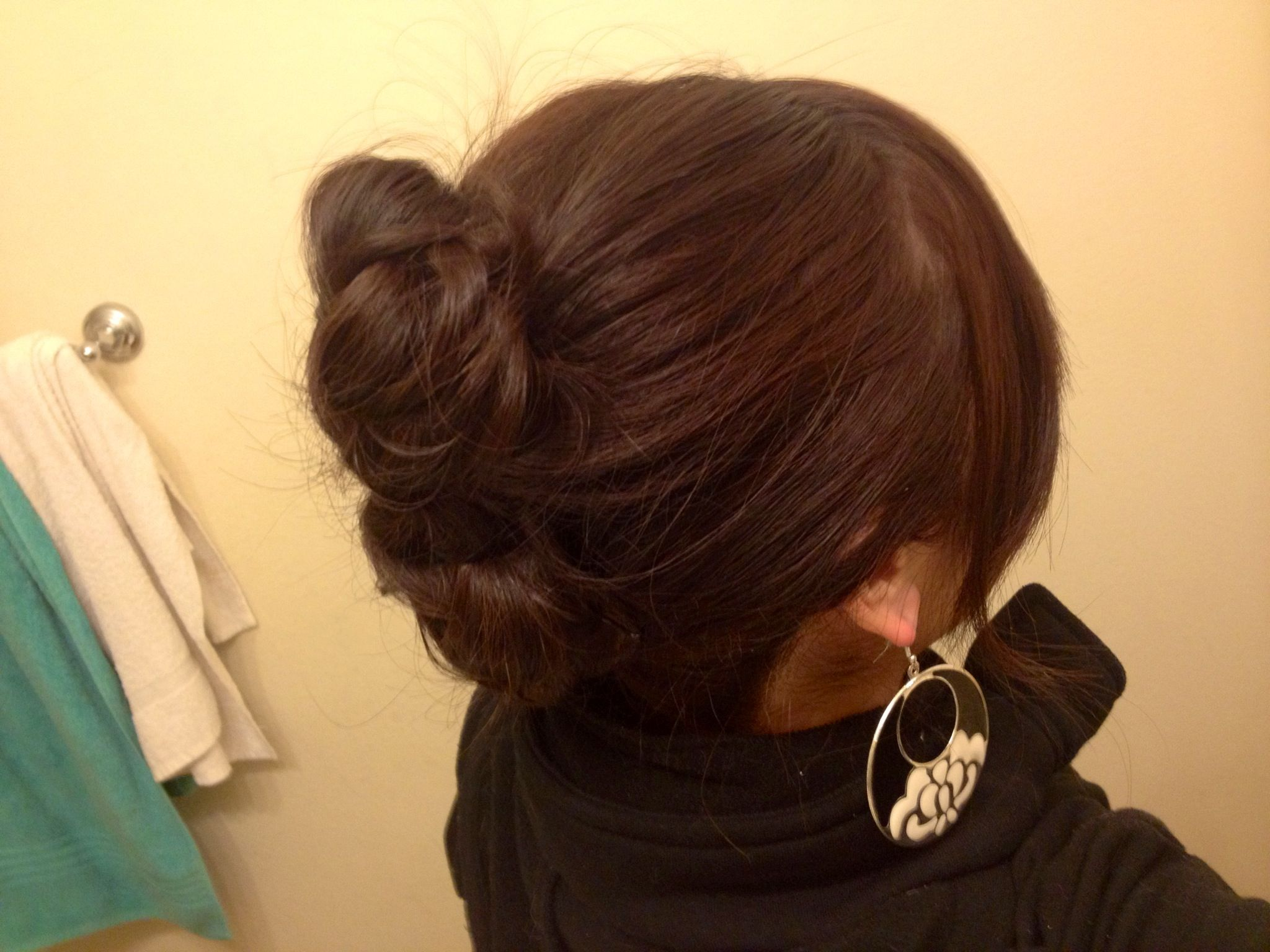 2-braided bun updo