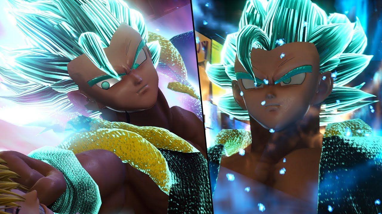 Gogeta Blue Joins The Fight Dbs Gogeta And Majin Vegeta Ultimate Team B Goku Vs Cool Gifs Battle