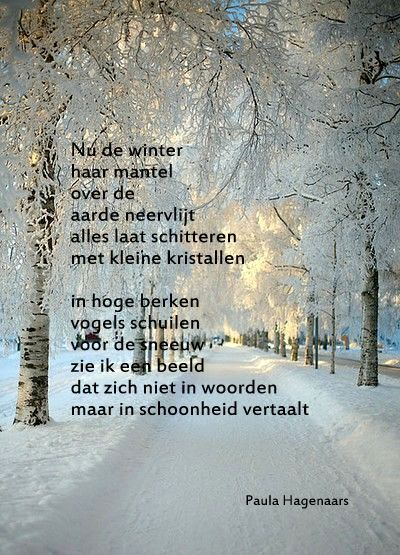Citaten Over De Winter : Gedichten paula hagenaars s citaten mooie gedichten gedichten