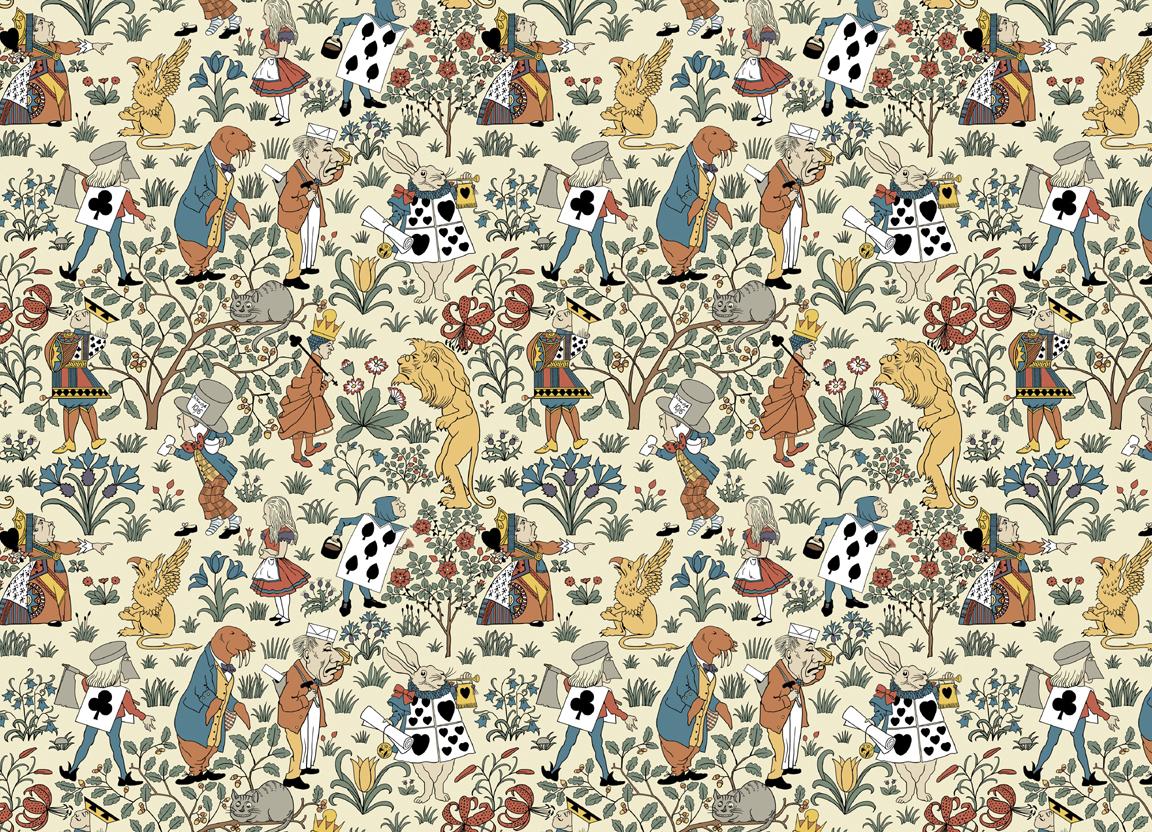 Trustworth Studios Alice in Wonderland Wallpaper, Voysey