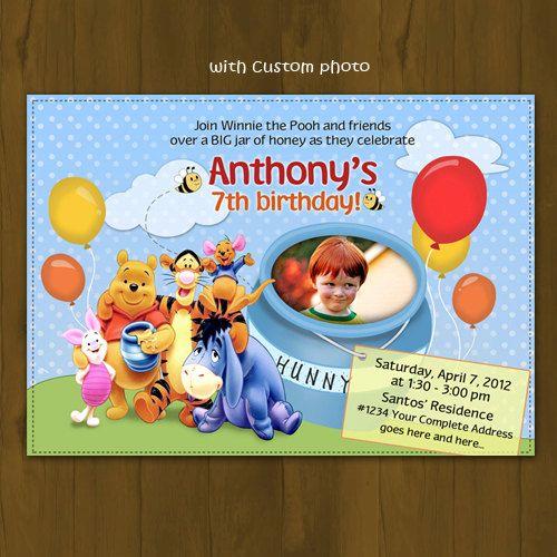 Winnie the Pooh Invitation Winnie the Pooh Printable Birthday
