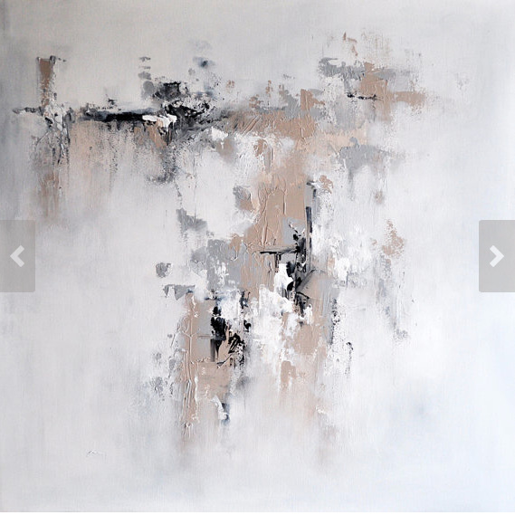 abstract painting white and
