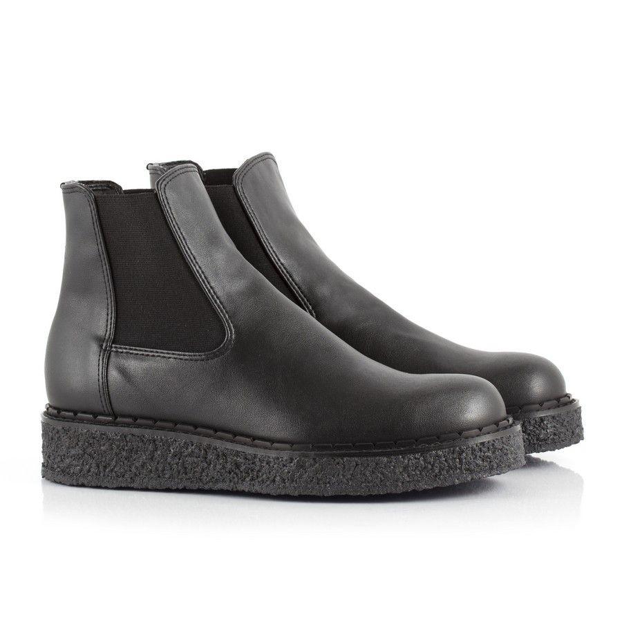 Bourgeois Boheme Alanis Women's Black Vegan Chelsea Boot