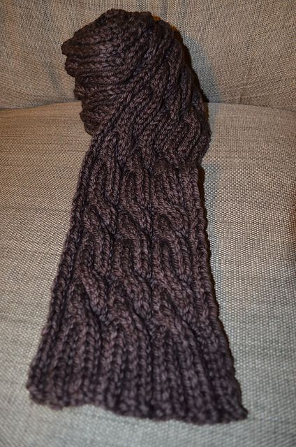 Quick And Easy Cabled Scarf By Leslie Sorensen Scarves And Cowls