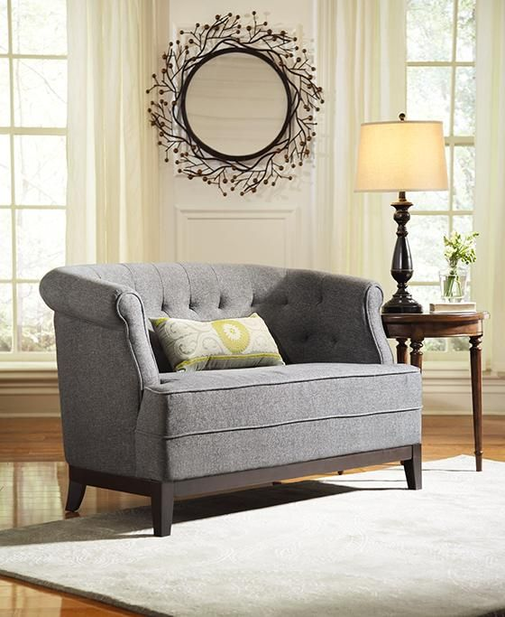 Emma Tufted Sofa Small Black Leather Corner Studio Miss Muffet S Tufting Pinterest