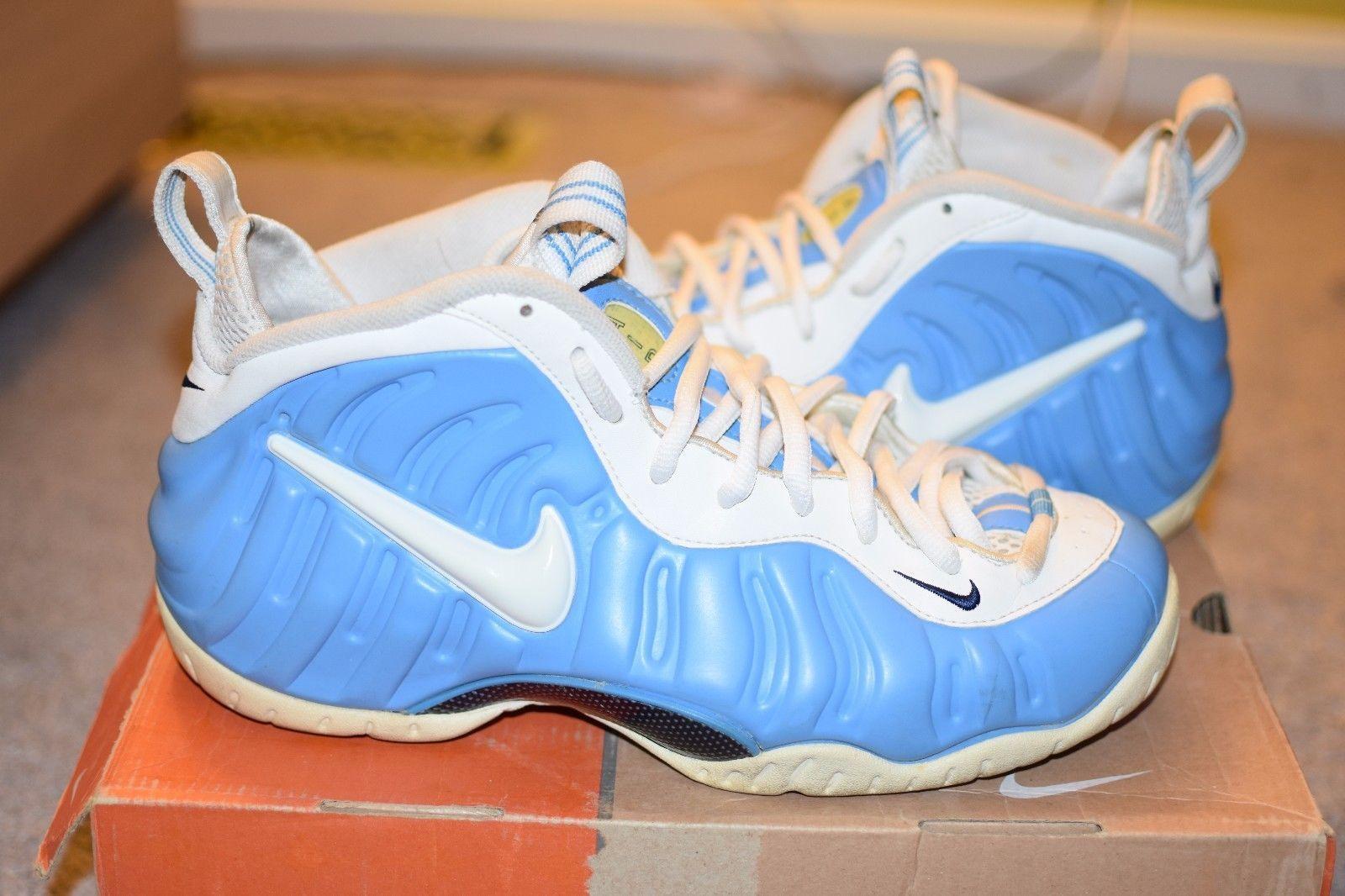 a811f1eff08 Rare Nike Air Foamposite Pro University Blue White Carolina 2000 s UNC Size  10.5