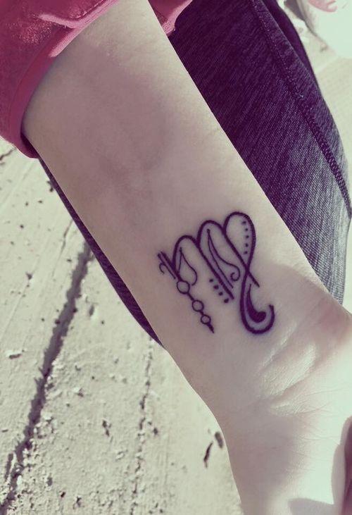 small zodiac Virgo sign tattoo #ink #girly #tattoos # ...