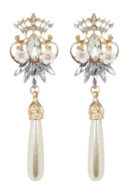 Image of Eye Candy Los Angeles Angel Harp Tassel Drop Earrings