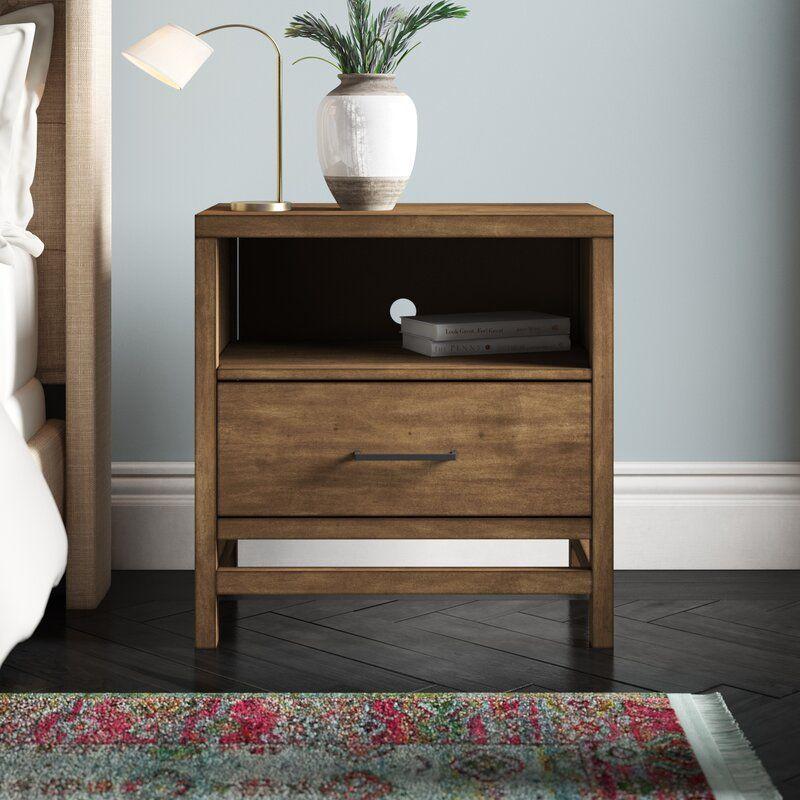 Stamper 1 Drawer Nightstand Joss Main In 2020 Modern Bedside Table Design Wooden Bedside Table Bedroom Night Stands