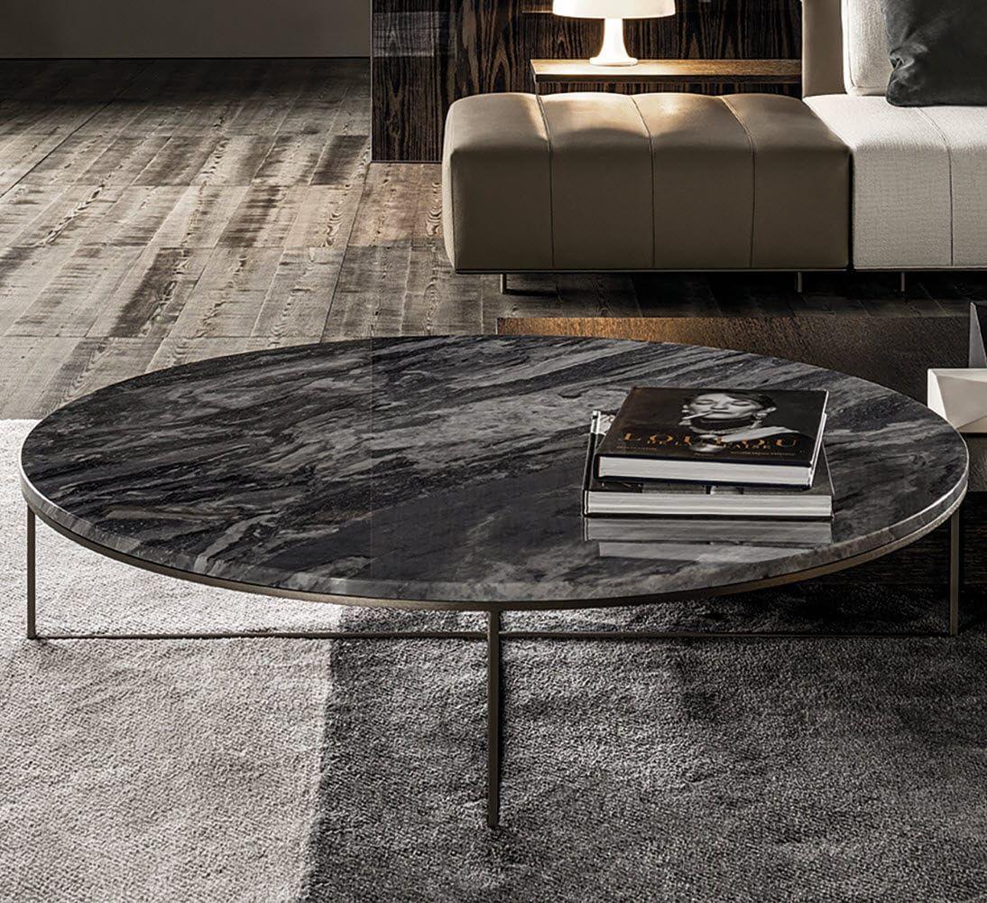 Tavolo Basso Moderno Design.Tavolino Basso Moderno In Marmo In Ferro Calder