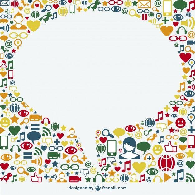 Social media vector template Free Vector | Logo ispiration | Pinterest