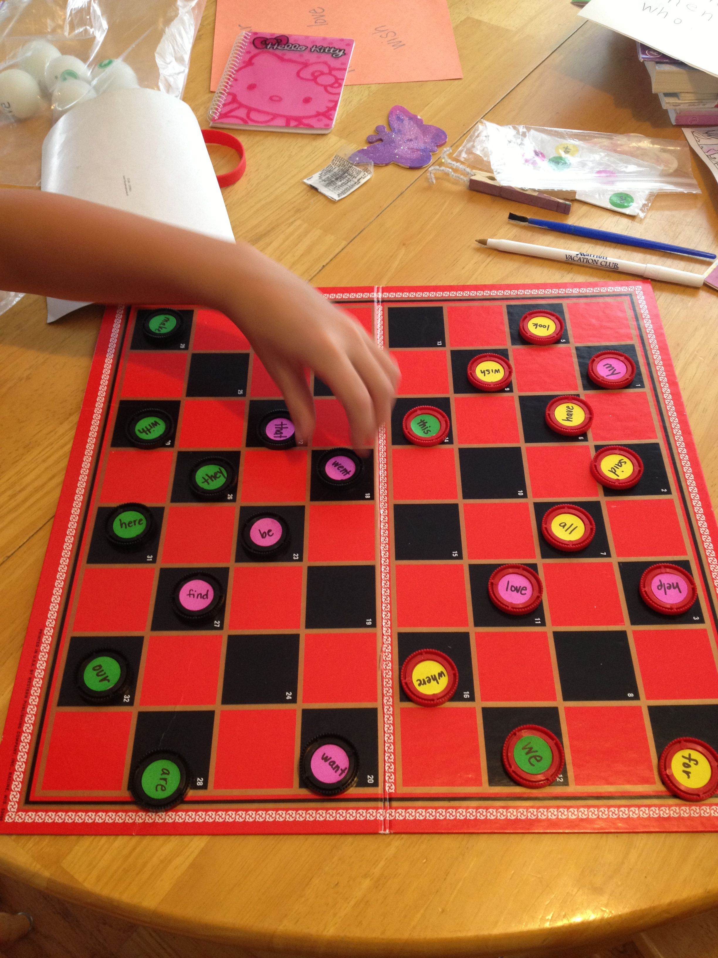 Sight Word Checkers