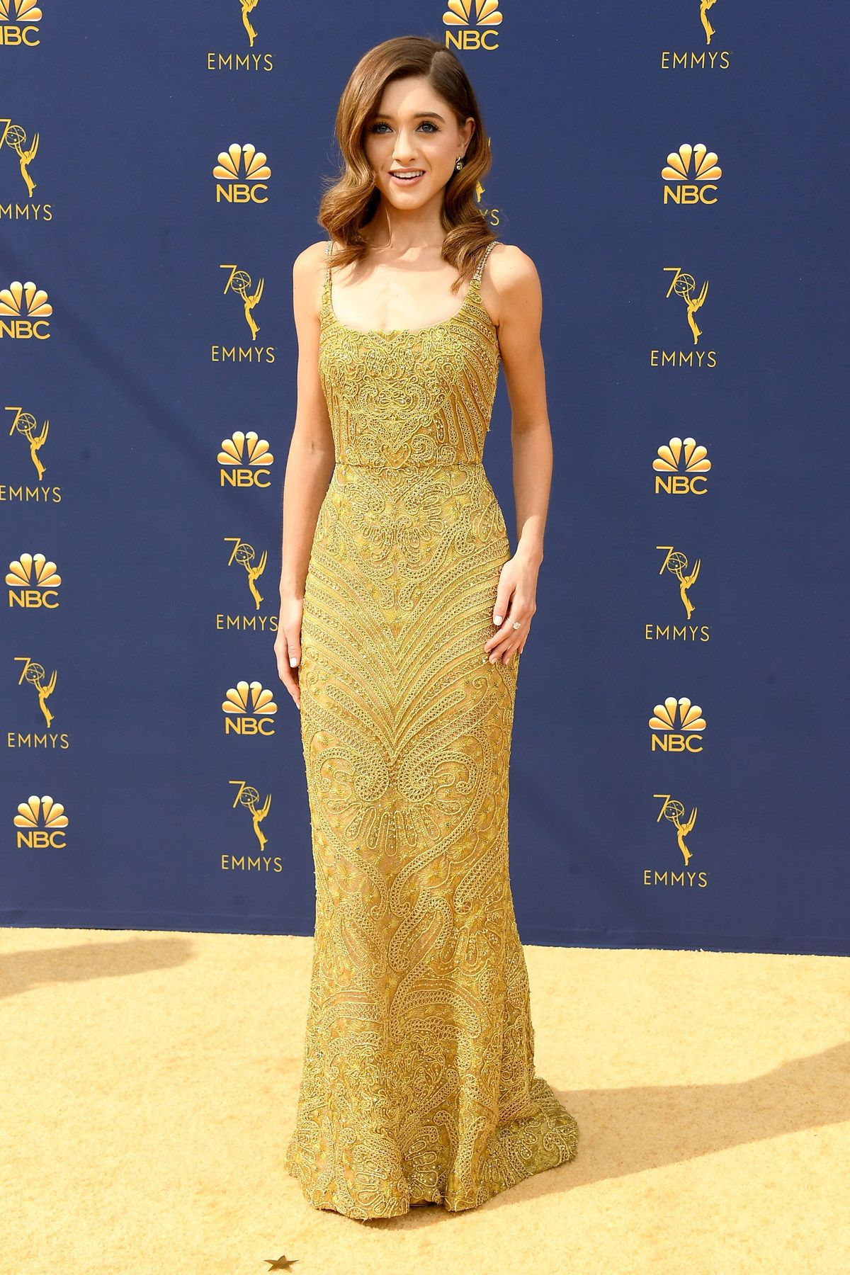 ABS Gold Evening Dresses