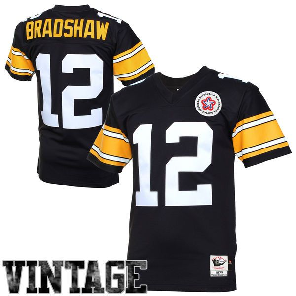 f805edc759a Terry Bradshaw Pittsburgh Steelers Mitchell   Ness Authentic Throwback  Jersey - Black -  299.99